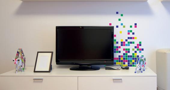 sticker Explosion de pixels