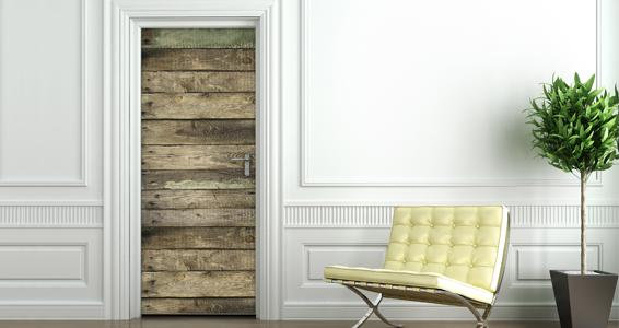sticker bois pour portes