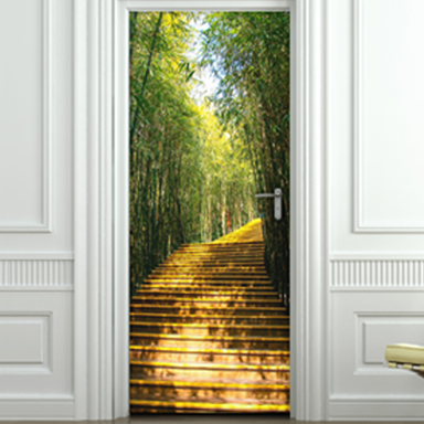 sticker capitonné escalier bambous pour portes