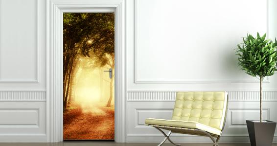 sticker Forêt pour portes