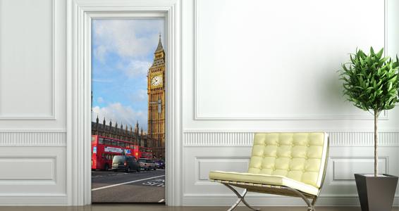 sticker vue Londres pour portes