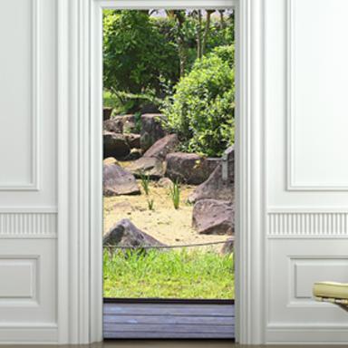sticker terrasse et jardin pour portes