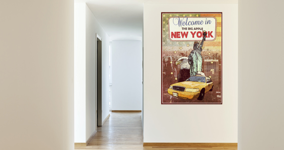 poster welcome in new york