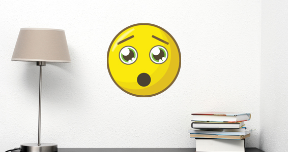 sticker smiley abasourdit