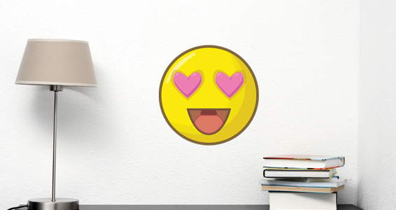 Sticker smiley amour