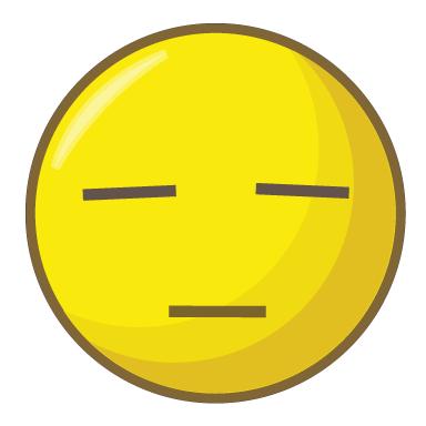 sticker smiley blasé