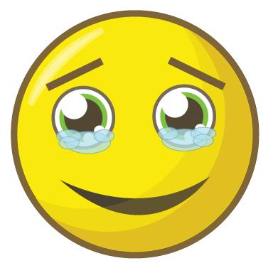 sticker smiley ému