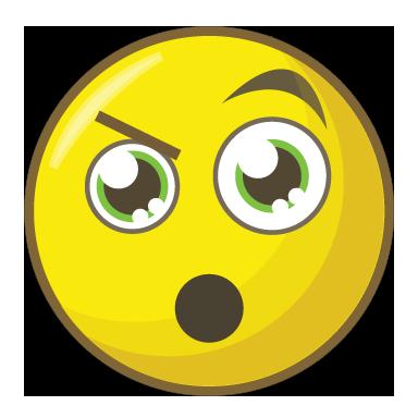 sticker smiley étonnement