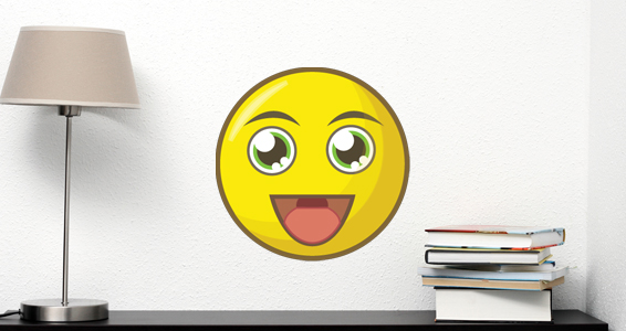 sticker smiley heureux