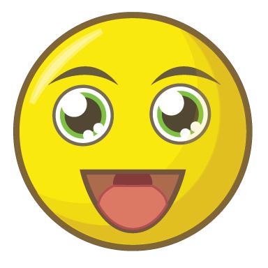 sticker smiley heureux