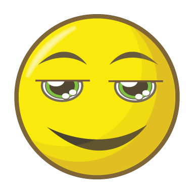 sticker smiley ironique