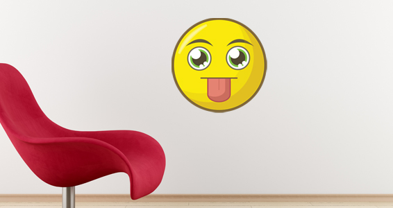 sticker smiley langue 2