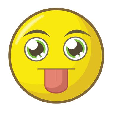 sticker smiley langue 2