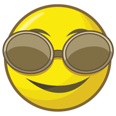 sticker smiley lunette de soleil