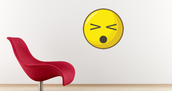 sticker smiley plaignant