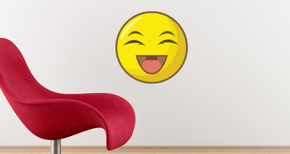 sticker smiley qui rigole