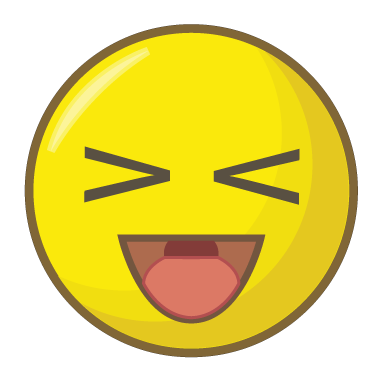 sticker smiley rire