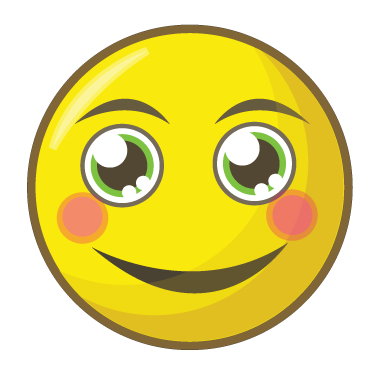 sticker smiley qui rougi