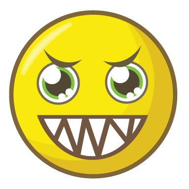 sticker smiley sadique