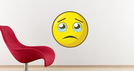sticker smiley triste