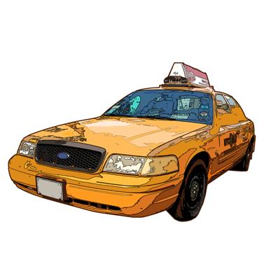 sticker taxi new york