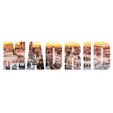 Stickers muraux texte voyage madrid sticker d coration for Decoration murale voyage