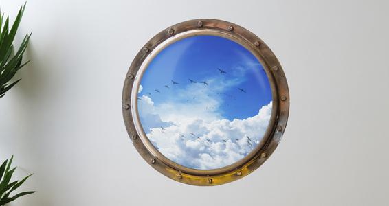 sticker Trompe l'oeil vue sur le ciel