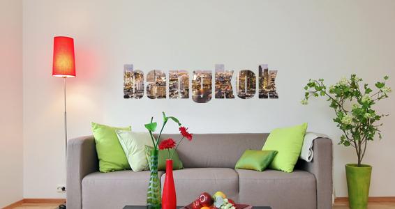 sticker texte voyage Bangkok 2