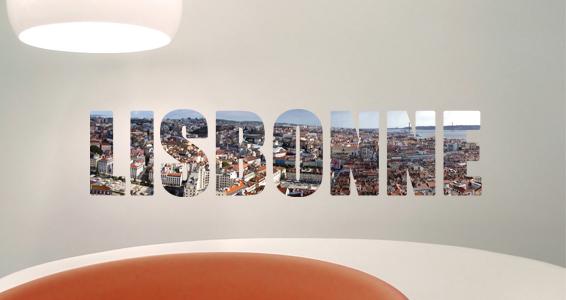 sticker texte voyage Lisbonne