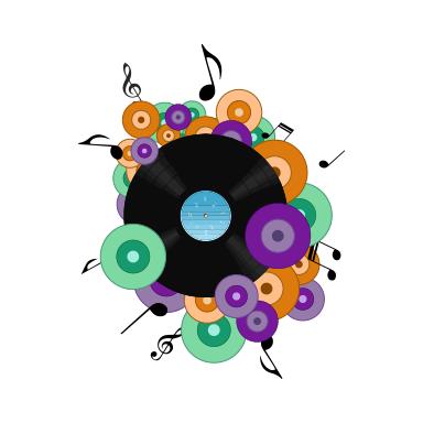 sticker Vynil pop musique