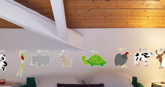Sticker Kit Abcdaire des animaux