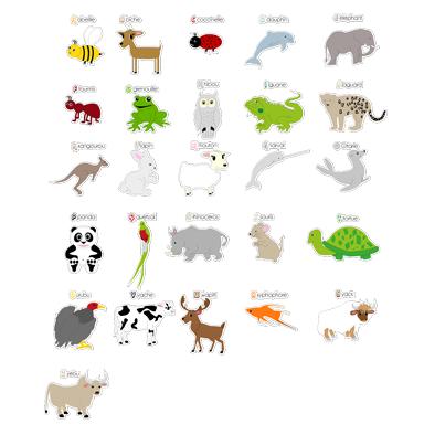sticker Kit Abcdaire des animaux