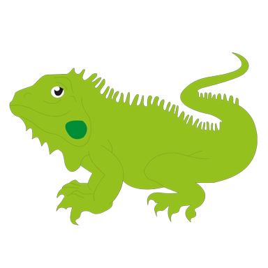 sticker Iguane
