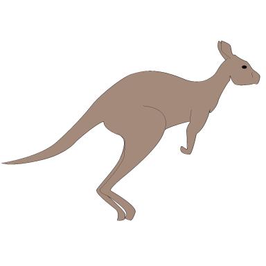 sticker kangourou