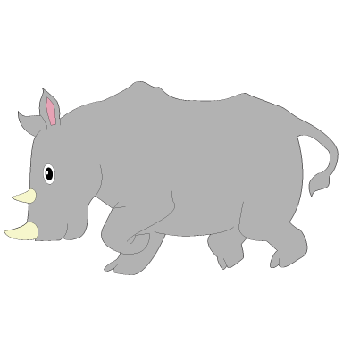 sticker rhinoceros