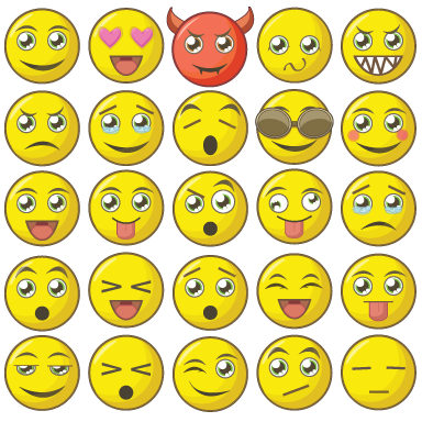sticker Kit de smiley
