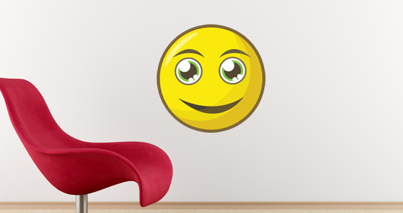 sticker smiley souriant
