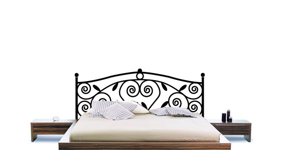 stickers muraux sticker t te de lit ornementale sticker d coration murale. Black Bedroom Furniture Sets. Home Design Ideas