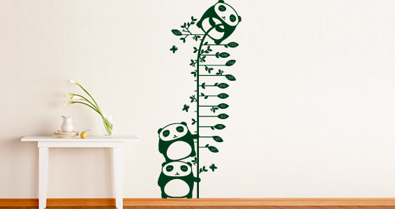 sticker Toise Panda