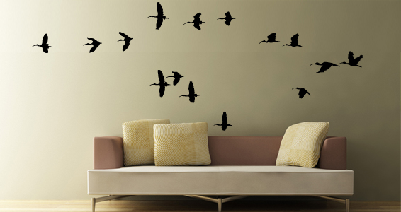 sticker Vol d'Oiseaux