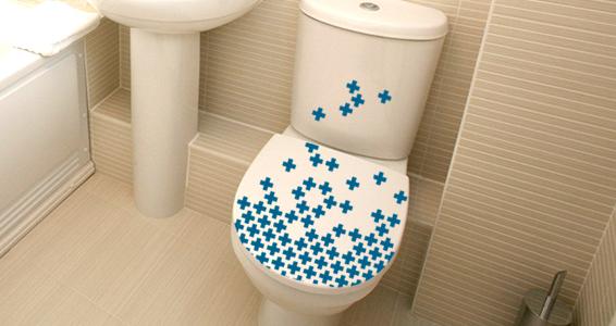 sticker Croix pour WC