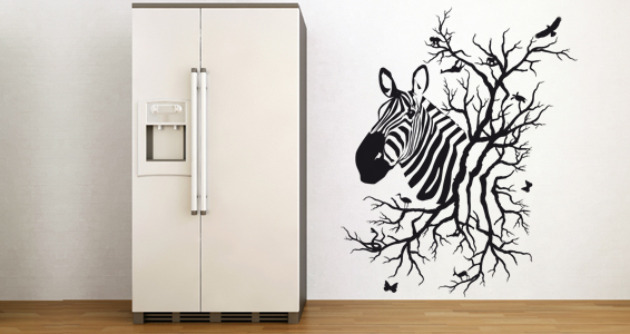 Stickers muraux z bre by antoni faucheux sticker for Deco murale zebre