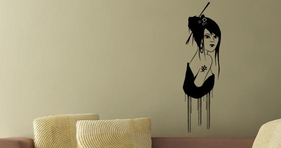 sticker Zen Geisha